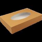 Cateringdoos BIO kraft/pla bruin 36x25x8cm