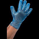 Wegwerp handschoenen VINYL blauw