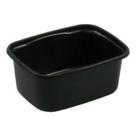 plastic bakje zwart