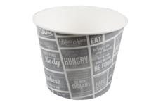 Food bucket grijs/wit karton met coating 3800ml