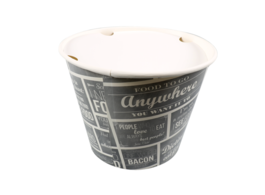 Food bucket deksel wit 3800ml - Ø200mm