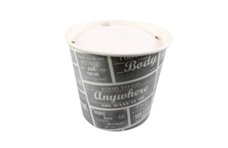 Food bucket deksel wit 2150ml - Ø167mm