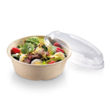 Salade bowl 900ml PLA DEKSEL helder