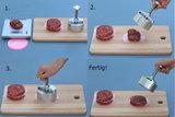 Hamburgerpers 54mm rond spikomat_