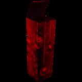 Wijnfles kerstdoos ROOD 1 fles 95x95x330mm open