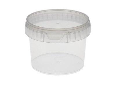 Plastic bakjes rond 565ml met lekdicht deksel