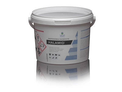 halamid poeder desinfecteren