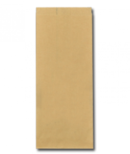 Papieren FSC® snackzak 13+8,5x32cm nr.27 (1 pond) bruin