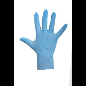 Wegwerp handschoenen Latex blauw gepoederd