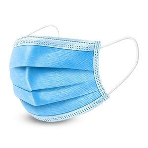 Mondkapjes, mondmaskers 3 laags blauw 50 stuks