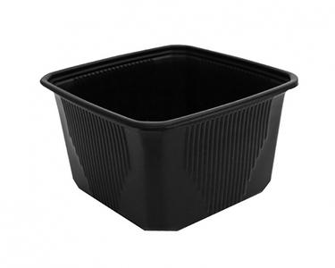 Plastic bakken PP 114Q 500ml zwart