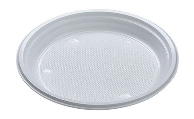wegwerp Bord wit plastic