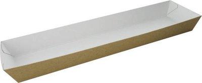 Kartonnen broodje bakje 250x60x25mm
