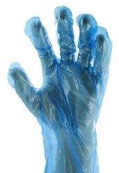 Handschoen PE blauw