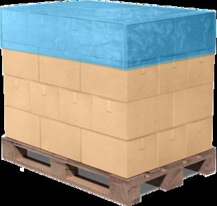 Pallet TOP hoes blauw 105x125x25cm