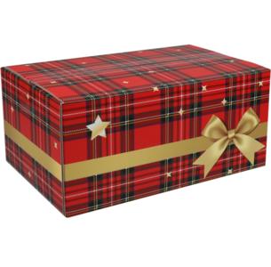 Kerstpakketdoos GOUDSTRIK B 350x315x170mm