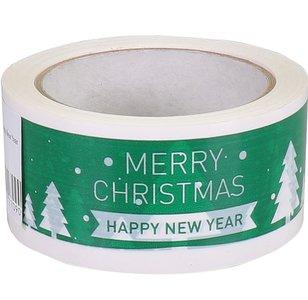 Dozensluit tape Merry Christmas, 3 rol