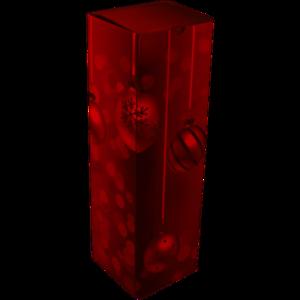 Wijnfles kerstdoos ROOD 1 fles 95x95x330mm