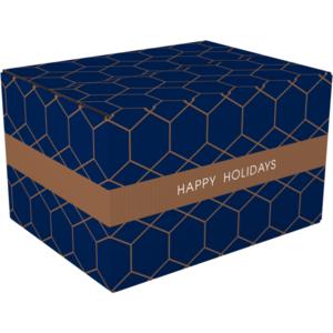 Kerstpakketdoos HAPPY HOLIDAYS A 310x200x140 mm