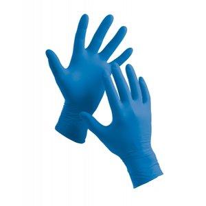 Handschoen nitril blauw