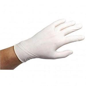 Handschoenen LATEX wit gepoederd